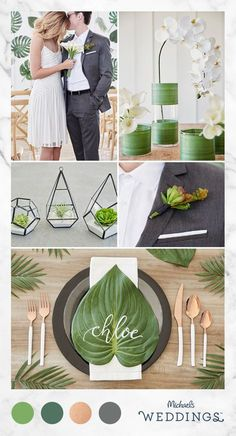 We love this fashion-forward modern wedding idea! See how you can add these contemporary & chic DIY touches to your big day. Wedding Color Schemes, Wedding Colors, Wedding Styles, Wedding Flowers, Diy Wedding, Wedding Ceremony, Dream Wedding, Wedding Venues, Wedding Ideas