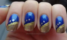 blue and gold... Westwood nails!