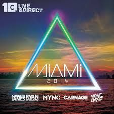 Like the way you have an image background and the triangle seems to be floating above the sea framing the city. I also like the text style used for Miami