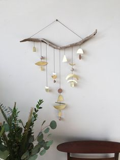 """Brass geometric wall hanging + geometric mobile // """"Ziya"""" // Made to order / Electric Sun Creatives / Etsy / Sacred Spaces <3"""