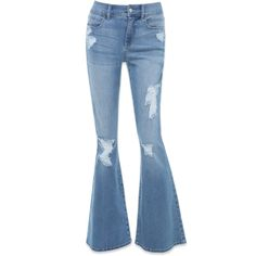 High Rise Flared Jeans ($129) ❤ liked on Polyvore featuring jeans, pants, calças, trousers, high waisted jeans, high-rise flare jeans, bebe, highwaist jeans and high rise jeans