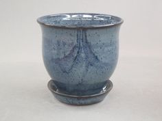 Planter in Slate Blue Glaze by ANDREWQUIENTPOTTERY on Etsy, $32.00