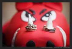Ring shot on our cake we loved this from Phindy Studios!!