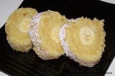 Grandma's Old Fashioned Banana Roll is naturally low in calories; a great dessert for the dieter. - Old Fashioned Banana Roll Recipe - Desserts at BellaOnline Great Desserts, Delicious Desserts, Dessert Recipes, Yummy Food, Pudding Recipes, Cake Recipes, Fun Food, Sweet Recipes, Yummy Recipes