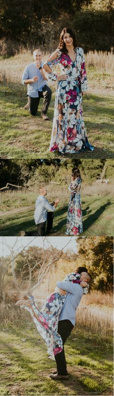 When she turned around, he was on one knee asking her to marry him!