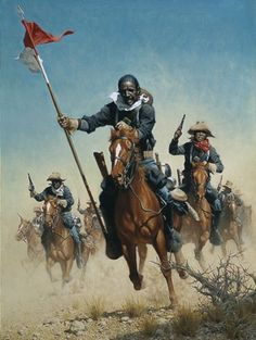 1866 c. Charge of the Buffalo Soldiers 10º Reg Caballería