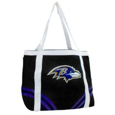 NFL Baltimore Ravens Canvas Tailgate Tote by Pro-FAN-ity by Littlearth. $13.27. 14 oz Knit Cotton Canvas. Large Interior Zipper Pocket. Features Over-Sized Team Logo. Officially Licensed. Machine Washable. NFL Baltimore Ravens Canvas Tailgate Tote. Save 34% Off!