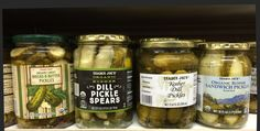 Whether you're feeling sour or sweet, this is a dilly of a day for pickle lovers. And Trader Joe's is no slouch in offering a tasty array of gherkin goodness. From traditional . Bread N Butter, Trader Joe's, Sweet Bread, Cucumber, Sandwiches, Tasty, Lovers, Traditional