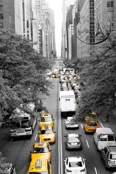 Yellow cab New York Photography Tudor City by UnAirDeParisByAlbane
