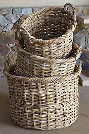 Rattan Baskets ||| LOVE!