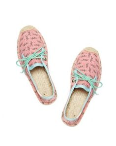 Foxes - Coral Lace Up Espadrilles | Soludos Espadrilles