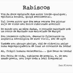 Poema de poesia! #rabiscos #danflorez #seteversos #autoconsciencia #poesiaviva #poemapoesia #autoral #creativecommons #bibliotecanacional