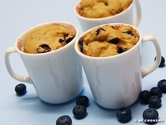 Blueberry Muffins in a Mug