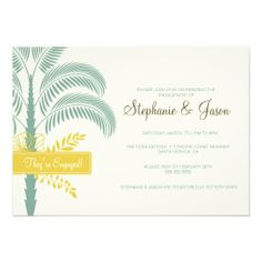 Elegant Palm Tree Engagement Party Invitation Discount DealsHere a great deal...