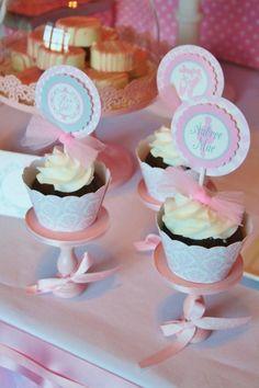 Pink Angelina Ballerina Girl Ballet Dance Tutu Baby Shower Planning
