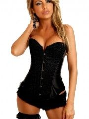 Black Sequin Burlesque Corset by Daisy. 6 available colors, shop now at http://sassygirllingerie.com/products-page/corsets-only