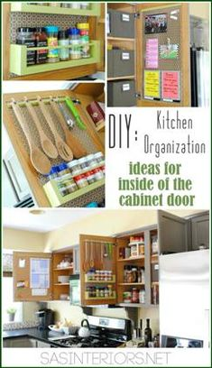 How to Maximize the Inside of Your Kitchen Cabinet Doors