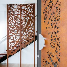 Faux Rust Finish applied to Interior screens and decorative door - LUMP…
