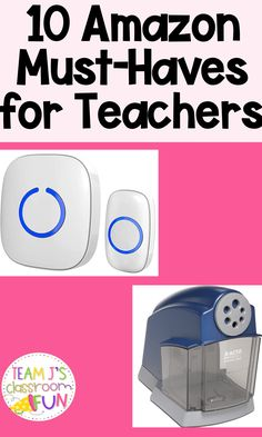 Long Pin for 10 Amazon Must-Haves for Teachers - includes picture of a wireless doorbell and a pencil sharpener. Middle School Classroom, Classroom Fun, School Teacher, School Fun, Future Classroom, Classroom Hacks, Classroom Resources, School Days, School Stuff