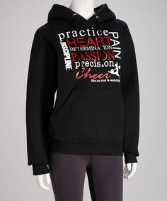 Take a look at this Black Cheer Passion Hoodie - Women by Dance World Bazaar on #zulily today!