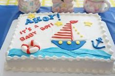 ahoy it's a boy baby shower - finally, I've been searching for a sheet cake!