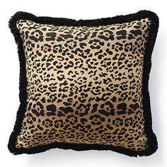 Leopard throw pillow.