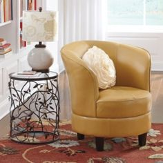 Rebecca Swivel Chair also in turquoise and amber