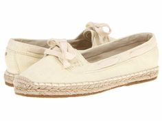 Women's New Tommy Bahama Veracruz Beige Canvas Boat Slip On Loafers Shoes 5.5  #TommyBahama #BoatShoes #Beach