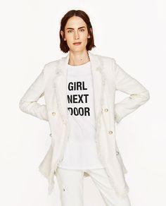 Wanna this white Chanel coat by Zara!