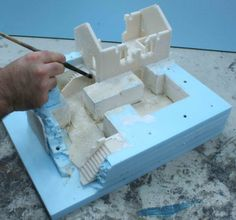 "Let's continue with the second article about ""how to work with high-density polystyrene"". We will illustrate how to prepare a complex and realistic terrain. When the various layers of polystyrene a…"