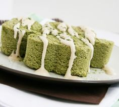 Almond Green Tea Pound Cake - Coconut Flour, Almond Flour, Honey (For SCD), Matcha Green Tea Powder, Eggs, Baking Powder, Sea Salt, Applesauce, Almond Milk, Vanilla, Almond Extract, Coconut Oil - SCD Legal, Gluten Free, Grain Free