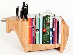 Half cheeseboard, half bookshelf.