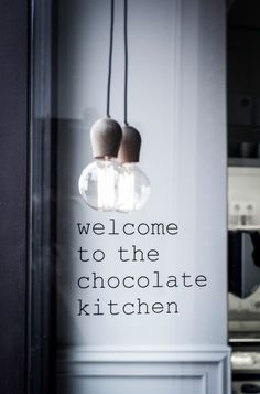Welcome to the chocolate kitchen