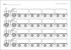 Editable missing numbers train worksheets (SB7511) - SparkleBox