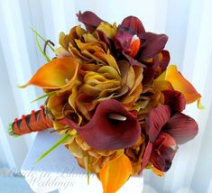 Wedding bouquet autumn fall bridal bouquet par BrideinBloomWeddings, $125.00