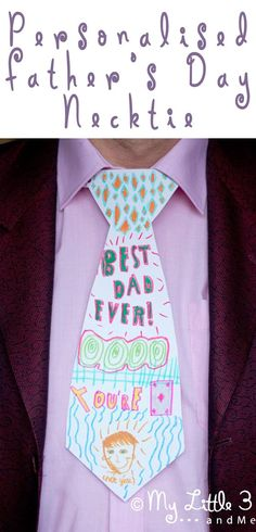 Looking for an easy Father's Day Craft? Super Personalised Neckties to show Daddies how much you care. #fathersday