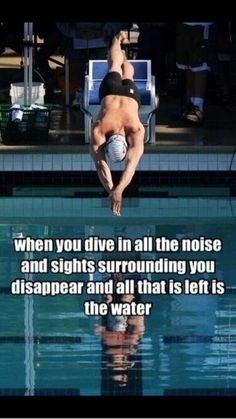 The best moment in the whole entire race is diving in, ask any swimmer and they'll say the same. Swimming Funny, Swimming Memes, I Love Swimming, Swimming Diving, Scuba Diving, Cliff Diving, Cave Diving, Swimmer Quotes, Gymnastics Quotes