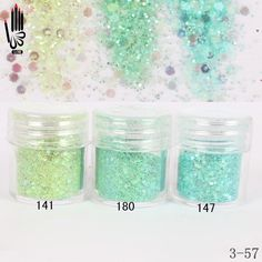 Glitter Dust, Loose Glitter, Glitter Nail Art, 3d Nail Art, Green Glitter, 3d Nails, Nail Manicure, Mint Green Nails, Light Mint Green