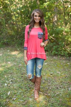The Pink Lily Boutique - All My Life Aztec Blouse, $34.00 (http://thepinklilyboutique.com/all-my-life-aztec-blouse/)