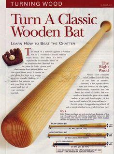Turning a Baseball Bat - Woodturning