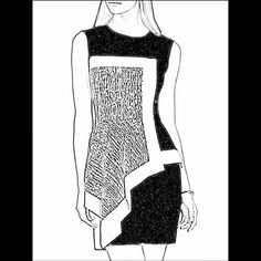 fashion sketch dress