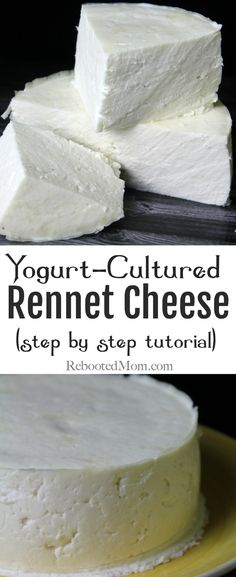 This Yogurt-Cultured Rennet Cheese Recipe is an easy way to learn the art of cheesemaking and requires just 3 simple ingredients! Make Cream Cheese, Milk And Cheese, How To Make Cheese, Making Cheese, Goat Milk Recipes, No Dairy Recipes, Real Food Recipes, Cooking Recipes, Fresh Cheese Recipe