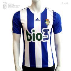 Camiseta oficial S. D. PONFERRADINA, temporada 2014 / 15, Liga Adelante. Adidas, Sd, Sports, Tops, Fashion, Seasons, T Shirts, Hs Sports, Moda