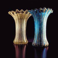 Murano Glass Vases...Love these unique pair of vases♥️