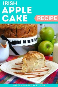 Apple Cake is the perfect fall recipe. Whip up this apple cake recipe after a visit to the local orchard or farmers market. It's a delicious combination of apples and spice. Fall Dessert Recipes, Fall Desserts, Fall Recipes, Delicious Desserts, Breakfast Recipes, Healthy Apple Cake, Apple Cake Recipes, Chocolate Recipes, Ireland Food