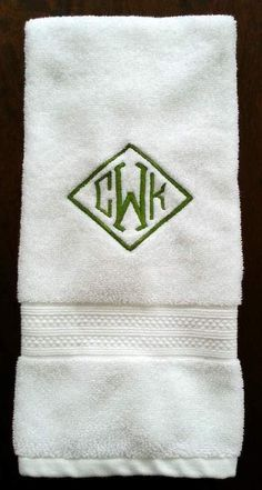 Monogrammed towels ~ my Christmas gift, monogrammed by my talented sister @Tina Doshi Doshi Worth