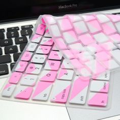 """Chevron Zig - Zag Silicone Keyboard Cover Skin for Macbook 13"""" CANDY PINK"""