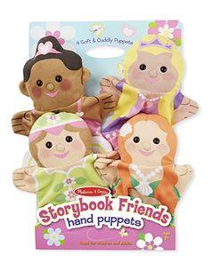 Melissa & Doug Storybook Friends Hand Puppets Plush