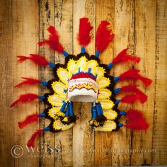 Thanksgiving Indian hat/Cherokee/ perfect by MimiLaCreations