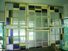 diy+old+window+frames | Look!: DIY Stained Glass Room Divider | Apartment Therapy